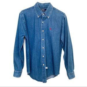 Polo Ralph Lauren Denim Button Down Shirt Size M